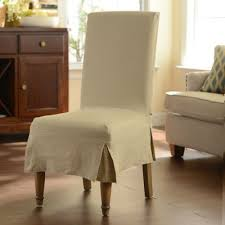 a quick dining room makeover is easy with this oatmeal parsons chair slipcover just slide it over your favorite chair for an easy hle free room update