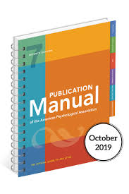 Apa Style Blog The Seventh Edition Of The Publication Manual Is