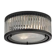 elk 46132 2 linden oil rubbed bronze flush mount ceiling light fixture loading zoom