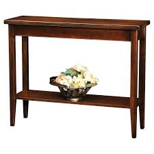 dark wood console table modern small with drawers