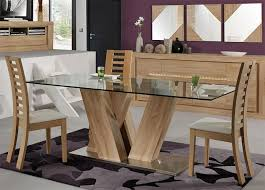 attractive design ideas wood and glass dining table 9