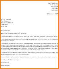 Pharmacy Technician Trainee Cover Letter Job Sample