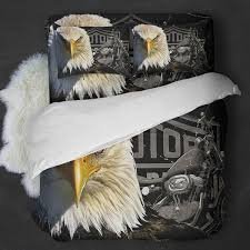 lovely harley davidson duvet cover eagle motorcycle bedding set block of gear king size