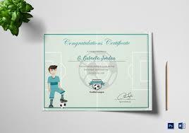 Congratulation Certificate Sports Award Winning Congratulation Certificate Design Template In