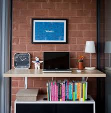 home office standing desk. wallmounted standing desk with bookshelf underneath home office