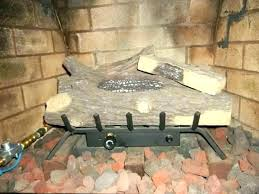 wood burning fireplace with gas starter gas fireplace starter pipe gas fireplace starters gas fireplace starter