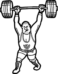 Small Picture Weightlifter Coloring Page Wecoloringpage