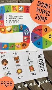 However, it is probably best if kids have a good grasp of cvc words and consonant digraphs before going onto. Free Printable Short Vowel Board Games