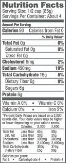 aquamar naturally 12 oz leg style crab nutrition facts table