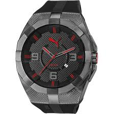 men s puma pu10392 iconic s black red watch pu103921001 mens puma pu10392 iconic s black red watch pu103921001