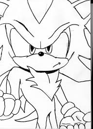 Shadow The Hedgehog Coloring Pages Shadow