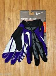 nike youth football gloves. get quotations · nike vapor jet 2.0 football gloves - purple \u0026 black adult large nw youth