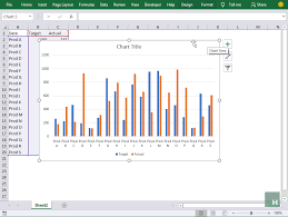 Floating Bar Chart Excel Actual Vs Target Variance Charts In Excel With Floating Bars
