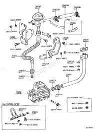 Exhaust gas recirculation system 7608 7901 2f toyota land cruiser bj40 fj4 55 north america
