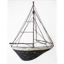 vintage sailboat wall decor home decoration gift