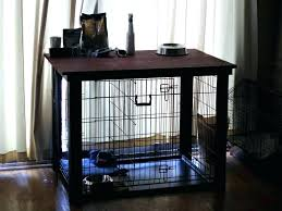 extra large wooden dog crate end table image of casual home pet plans