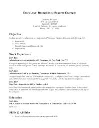 Medical Receptionist Resume Objective Best Resume Objectives For