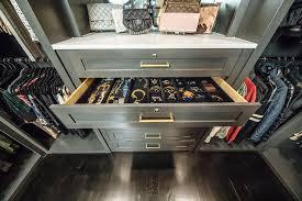 gray built in closet dresser with velvet jewelry organizer