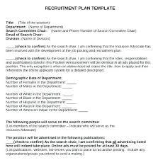 Recruiting Plan Template Change Management Proposal Example Project Development Plan