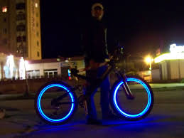 Lights On Wheels Of A Bicycle Led Bicycle Wheels Bicycle Wheel Bicycle Bicycle Lights