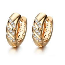 Diamond Round Earrings Designs Us 1 63 44 Off Qcooljly Classic Design Small Round Loop Rose Gold Color Aaa Cz Fine Wedding Hoop Earrings For Women Cr038 In Hoop Earrings From
