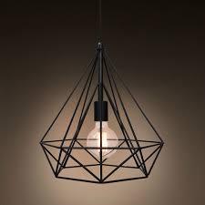 diamond cage ceiling light
