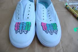 Diy shoes designs Galaxy Follow The Attic Blog Wordpresscom Boring Into Flashy Aztec Gems Easy Diy Way To Transform Your