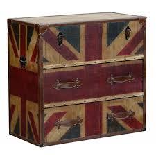 Union Jack Vintage Retro Style Drawer Chest - London Trunk Company