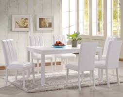 White Distressed Kitchen Table Dining Room Sleek Traditional White Rectangle Dining Table With