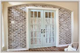 How To Whitewash Brick Junk Chic Cottage French Farmhouse Faux Brick Wall