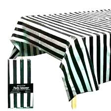 white tablecloth plastic black and striped table cloth stripe round covers polka dot pol