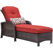 hanover strathmere all weather wicker patio chaise lounge chair with silver lining cushion strathchsslv the home depot