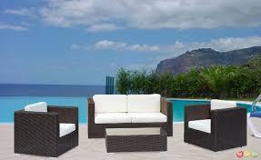image modern wicker patio furniture. Enjoyable Inspiration Modern Wicker Patio Furniture Outdoor White Image