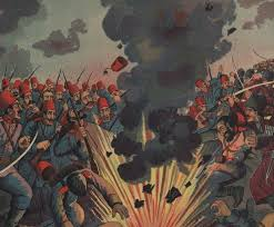 defeat in war. the russianturkish war defeat of turkish army at sarikamish in a