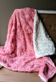 rosette baby blanket diy