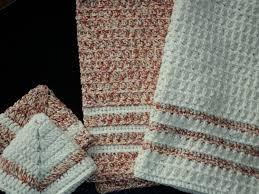 crochet dish towels crochet dish towel set crocheting pertaining to crochet kitchen towel