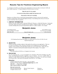 How To Write Student Resume For College Freshmen Formidable
