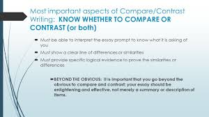 compare and contrast essay writing purpose to reveal 4 most important aspects of compare contrast writing
