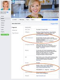 how to write an awesome and succinct facebook bio snapshot of mari smith s facebook bio page