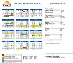 180 Days Of School Chart Academic Calendar Sunnyside Unified School District