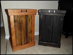 Amazing Rustic 30 Gallon Wood Trash Can