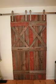 vintage pocket door hardware. Rustic Brown Lacquered Wooden Sliding Barn Door Vintage Pocket Hardware A