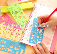 Plastic Diy Stencil Drawing Template For Scrapbooking Planner Diary