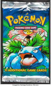 Pokémon Unlimited Base Set Sealed Booster Pack (Wizards of the   Lot #70125