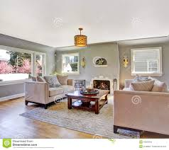 White And Grey Living Room Light Grey Living Room With White Sofas Stock Photo Image 42628347