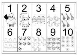 Small Picture Coloring Pages Numbers 1 10 line drawings online Coloring Pages