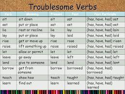 Troublesome Verbs Worksheet - Checks Worksheet