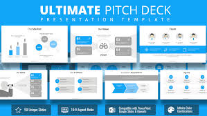 Power Point Tempaltes 3 Ultimate Pitch Deck Powerpoint Template