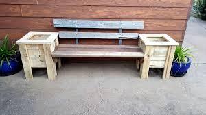 garden bench planter box. handmade pallet bench seat and planter boxes garden box r
