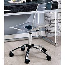 Image Lucite Amazoncom Furniture Of America Aja Acrylic Office Chair In Clear Kitchen Dining Amazoncom Amazoncom Furniture Of America Aja Acrylic Office Chair In Clear